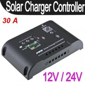 REGULATOR SOLAR  CONTROLLER solar. Regulator de incarcare panouri solare  FOTOVOLTAICE 12v/24v -30A. foto