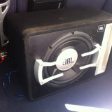 Vand subwoofer jbl 1204 gto, + amplificator auto jbl 75.2 + condensator auto Power Cap 1.2 F - Pachete car audio auto
