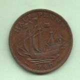 ANGLIA 0.5 PENNY 1940 moneda