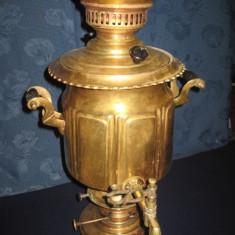 Metal/Fonta - Samovar vechi de secol 19 pe gaz din cupru alamit.