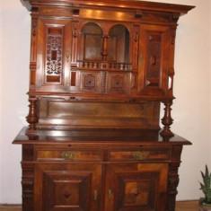 DULAP LEMN MASIV STEJAR, CU INSERTIE DE CIRES SECOLUL XVIII - Mobilier, Altul, German, 1800 - 1899