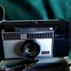 APARAT FOTO KODAK INSTAMATIC 224 ( ETUI PIELE) - Aparat Foto cu Film Kodak