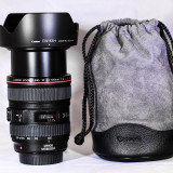 Obiectiv DSLR, Tele, Autofocus, Canon - EF/EF-S, Stabilizare de imagine - Obiectiv Canon EF 24-105mm f/4L IS USM DSLR