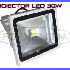 PROIECTOR REFLECTOR LED 30W ECHIVALENT 300W, 2700 LUMENI, IP65, 220V, ALB RECE ZDM