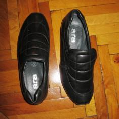 Pantofi dama piele naturala, mocasini ARA masura 35 - Mocasini dama Gabor, Marime: 34.5, Culoare: Negru