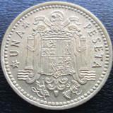 (1004) SPANIA 1 PESETA 1966 REGELE SPANIEI