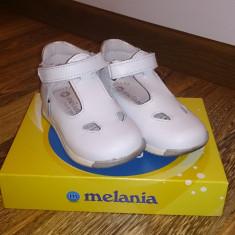Pantofi copii, Fete - Pantofi Fetite, albi, piele, marimea 22