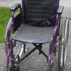 Scaun cu rotile - Scaun pliabil cu roți persoana cu handicap, adus din Germania. Stare perfecta de functionare, impecabil.