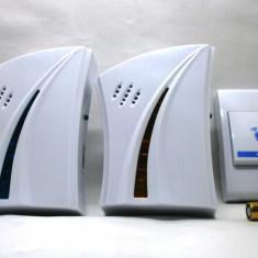 Sonerie electrica - Sonerie fara fir wireless cu doua module si un buton