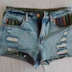 Pantaloni scurti Pull&Bear - Pantaloni dama Pull & Bear, Marime: 36, Culoare: Albastru