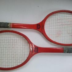 Lot 2 rachete de tenis fabricate la Reghin - JUNIOR, perioada anilor '80 ( UZATE ) - Racheta tenis de camp, Copii