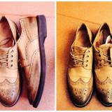Pantofi barbati, Marime: 46, Piele naturala, Crem - Papuci Marc'o Polo, piele naturala!