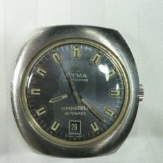 CYMA - BY SYNCRON - CONQUISTADOR - AUTOMATIC - VINTAGE - ANII 1960 - 70 - STARE DE FUNCTIONARE - CEAS ELVETIAN DE COLECTIE - Ceas de mana
