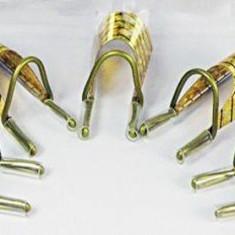Ustensile - Sabloane refolosibile din teflon, aurii, pentru unghii false cu gel/acril 5 buc