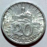 20 Halierov 1942 Al, Cehoslovacia XF - Moneda Romania