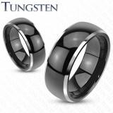 Inel Verigheta Neagra din Tungsten TCR-061