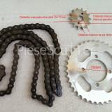 Kit - Set Pinioane - Pinion Mic + Mare + Lant Transmisie ATV - 60 Zale - Pas 428