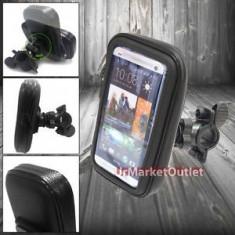 Suport telefon bicicleta - Suport impermeabil waterproof bicicleta sau moto HTC ONE 2 m7 M8 M9 si folie