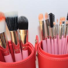 Pensula make-up - Set make up 16 pensule machiaj Fraulein38 + butoias depozitare