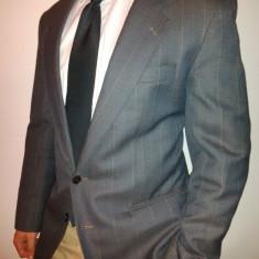Probare sacou GRI m50/L barbati casual suit( manechin 1.83 cm 81 kg) - Sacou barbati H&m, Culoare: Albastru