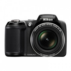 Vand Nikon Coolpix L330 - negru + Geanta foto + Card + Charger - Aparat Foto Mirrorless Nikon, Kit (cu obiectiv), 20 Mpx