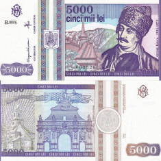 ROMANIA 5.000 lei 1993 UNC!!!, An: 1993