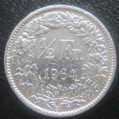 (1204) ELVETIA 1/2 FRANK 1964 ARGINT !!! IEFTIN !!!