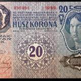 Bancnota Straine, Europa, An: 1913 - AUSTRIA UNGARIA TRANSILVANIA 20 KORONA KRONEN COROANE 1913 STAMPILA ROMANIA **