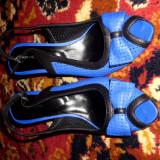 Pantofi din piele - Pantofi dama, Marime: 39, Culoare: Albastru, Piele naturala, Albastru