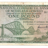 Bancnota Straine, Europa - SCOTIA NATIONAL COMMERCIAL BANK OF SCOTLAND LIMITED 1 POUND LIRA 1964 F