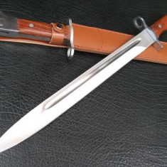 Briceag/Cutit vanatoare, Cutit tactic - CUTIT. SABIE. BAIONETA AK 47 CCCP. TEACA INCLUSA. MACETA. 50 cm. SIGILAT.
