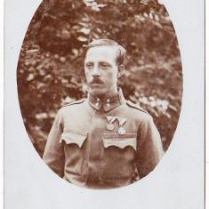 Fotografie veche - Fotografie tip carte postala apr.1915 Austria Ungaria ofiter cu decoratii WW.I.