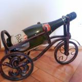 Suport francez pentru sticle de vin,sampanie model tricicleta