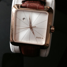 Ceas Barbatesc Doxa, Lux - elegant, Quartz, Inox, Piele, Data - Ceas Doxa folosit, aproape nou
