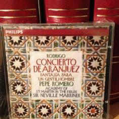 RODRIGO - CONCIERTO DE ARANJUEZ -P. Romero & N. Marriner- 1994/PHILIPS-CD NOU - Muzica Clasica universal records