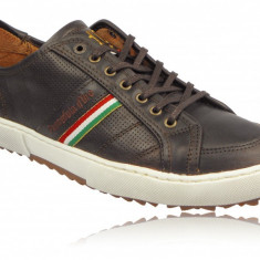 Adidasi Originali Pantofola d'Oro Modena-adidasi piele-Adidasi barbati Polo By Ralph Lauren-41(26cm), Culoare: Maro, Piele naturala