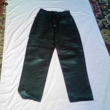 Pantaloni barbati, Negru, Lungi, Piele - PANTALONI PIELE FRANTA LICHIDARE STOC