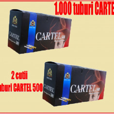 Foite tigari - Tuburi CARTEL 1000 / 2 x 500 tuburi injectat tutun, tigari; filtre tigari