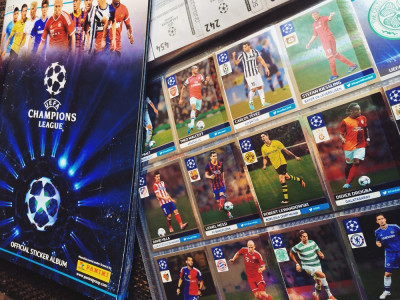 Lot 80 cartonase fotbalisti - Panini - Uefa Champions League - OFFICIAL STICKER ALBUM  2013 - 2014 foto