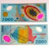 Bancnota 2000 lei ECLIPSA 1999 - polymer - UNC - seria 001A - RBK4236