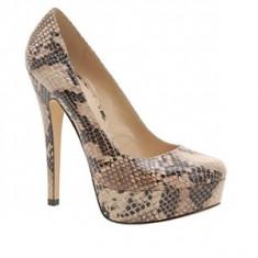 Pantofi dama Aldo, Marime: 38, Bej - ~~~ Pantofi ALDO Capecoral Snake, mar 38, noi, 150 lei ~~~