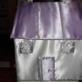Casuta de bani ptr nunta lila - Decoratiuni nunta