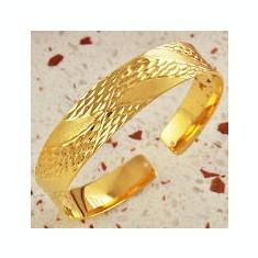 Bratara placate cu aur, Femei - BRATARA DAMA AUR FILAT 14 K MASIVA MODEL ROMBURI (5)