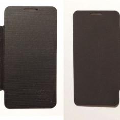 Husa Huawei Ascend G510 Flip Cover Negru si !!! Folie de protectie dispaly CADOU !!! - Husa Telefon Huawei, Plastic