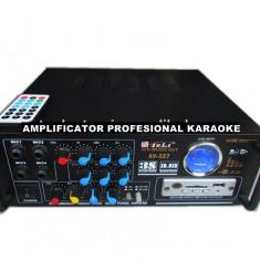 AMPLITUNER 80WATT, MP3 USB, RADIO, INT.MIC.KARAOKE, EQ GRAFIC, TELECOMANDA+MICROFON. - Amplificator audio, 41-80W
