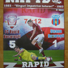 Program fotbal Rapid - Steaua (2013) - Program meci