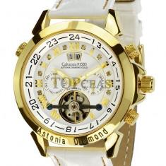 Ceas de lux Calvaneo 1583 Astonia Diamond White Gold, original, nou, cu factura si garantie! - Ceas barbatesc Calvaneo, Mecanic-Automatic