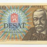 Bancnota Straine, Europa - Cehoslovacia 10 korun 1986 necirculata