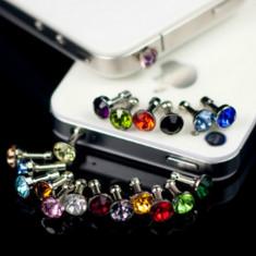 Ornament dop Jack 3, 5mm cu diamant Rhinestone - Bijuterii Telefon, Transparent