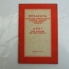 Declaratia consfatuirii reprezentantilor partidelor comuniste si muncitoresti Bucuresti 1960 - Istorie